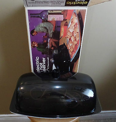 Vintage Electric CORNWALL Covered Bubble Dome HOT Server~Original BOX~Looks New!