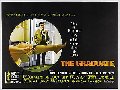 """The Graduate 1967 16"""" x 12"""" Reproduction Movie Poster Photograph"""