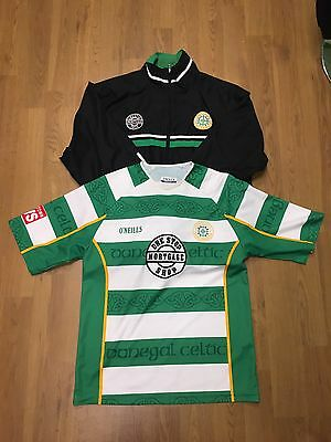 Mens Rare Donegal Celtic O'neills Northern Ireland Football Shirt And Jacket S/M