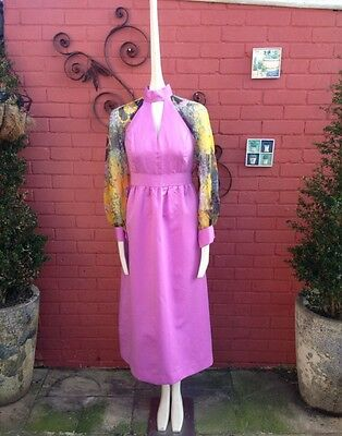 Ladies 1970s Vintage Maxi Dress