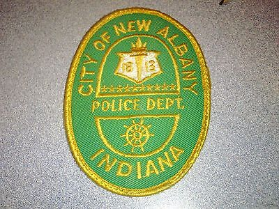 Obsolete City of New Albany IN Indiana Police Shoulder Patch Unused