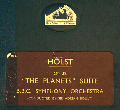"HOLST ""THE PLANETS"" SUITE OP. 32; BBC SYMPH. & ADRIAN BOULT -RARE- 78rpm   A169"