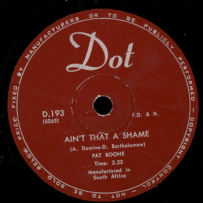 """PAT BOONE  Ain't that a shame """"Jukebox-Hit"""" / Gee whittakers    78rpm      S8088"""
