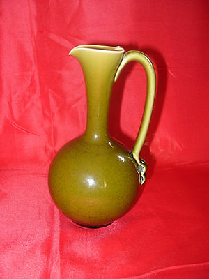 "LINTHORPE POTTERY Green Glaze Ewer Jug 7"" High No. 826 c1880"