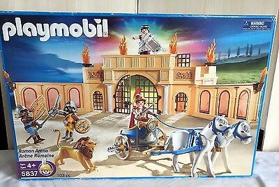 NEW!  PLAYMOBIL 5837 ROMAN ARENA SET WITH FIGURES - RETIRED! NEW in SEALED BOX!