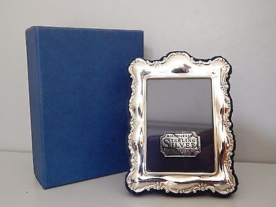 "Unused boxed Solid Silver Carr of Sheffield Photo Frame  1990's 3 1/4"" x 2 1/4"""