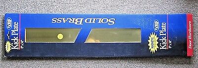 """Ives Schlage MAGNETIC Kick Plate Solid Brass  8"""" x 34"""" No Screws No Tools Needed"""