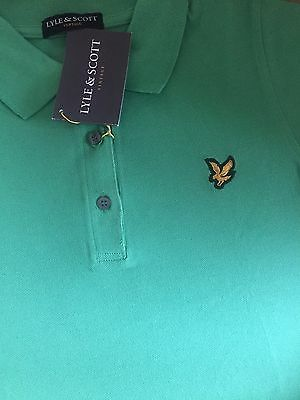 Lyle and Scott Vintage polo Pique Ladies Golf T Shirt Salad Green Top Brand New