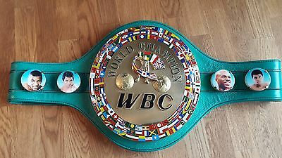Full size WBC leather  boxing belts,signed by Manny Pacquiao and Freddie Roach.