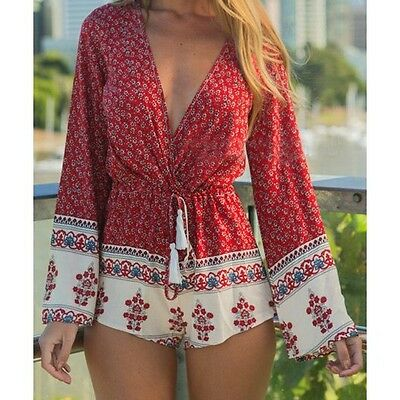 lot of 8 boho red romper rompers for resale