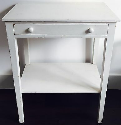 vintage table painted white shabby chic furniture