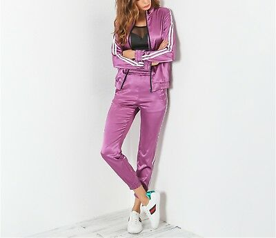2017 Luxury Chick Tracksuit Suit Set Women 2 Pieces Hooded Pants Zip Leisure New