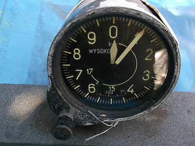 ww2 polish aircraft altimeter unused old stock
