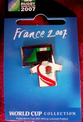 ENGLAND 2007 Rugby World Cup in France Badge PIN RARE