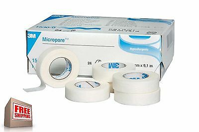 Micropore Hypoallergenic White Surgical Tape 3M 1-50 Pcs NEW! FREE SHIPPING!
