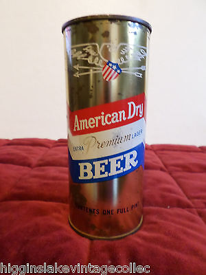 Vintage Rare American Dry 5 Star New York 224-8 16 oz Flat Top Beer Can