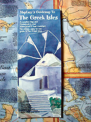 NEW~MAP OF GREEK ISLES~MapEZ Guide~Detail Maps of Crete, Ionian & Aegean Isles++