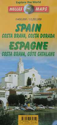 NEW 2002~MAP of SPAIN COSTA BRAVA-COSTA DORADO,Nelles~Madrid,Barcelona,Terragona