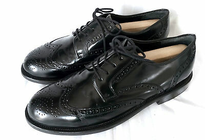 City Shoes Full Brogue Derby Herren Business Schuhe Leder Schwarz Gr. 44