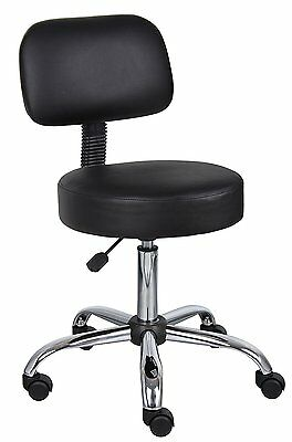Boss Medical Doctor Lab or Dentist Office Rolling Stool Seat Chair w/ Back
