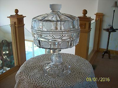 Antique US Coin EAPG Frosted Pattern Rare Early American 1892 Compote Original