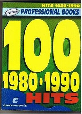 100 HITS 1980 1990 100 SUCCESSI in DO LINEA MELODICA con TESTI e  ACCORDI