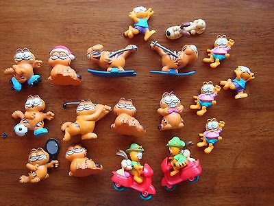 Garfield the Cat figures from 1978-1981 lot of 18