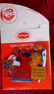Mascot Torch Relay Arrive 8 June Sydney Olympic Games 2000 Pin Badge