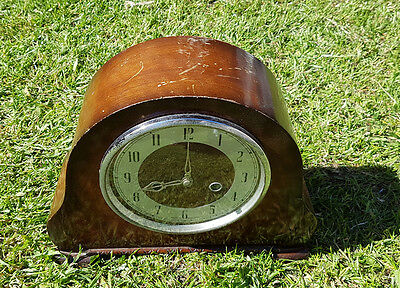 Vintage Smiths Enfield Mantle Clock , No key, Untested