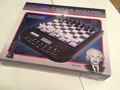 RARE BOXED Excalibur Games Electronic Einstein Chess Wizard New & Unused