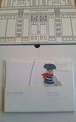 Little white company pirate cot bed pillow case BNWT