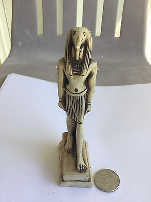 UNIQUE VINTAGE THE GOD THOTH (Ibis Bird) CARVED STATUE HANDMADE IN EGYPT UNIQUE
