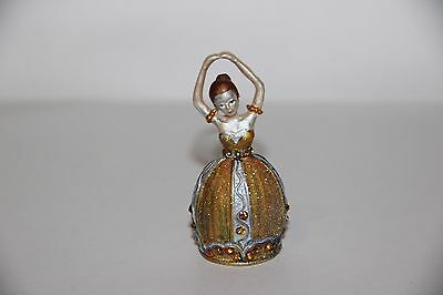Russian metal thimble in hand painted ballerina