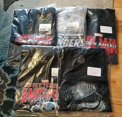 Lot of 5 FUNKO MARVEL COLLECTOR CORPS T-Shirts LARGE New & Sealed -  Avengers
