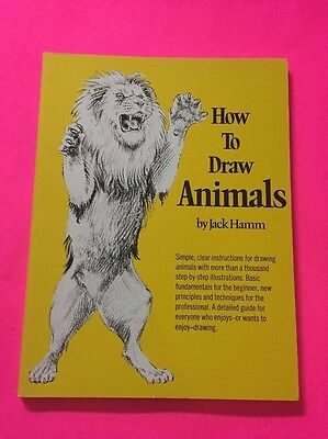 How To Draw Animals Jack Hamm Vintage 1982 Exc Cond For Children