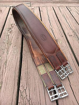 """Beval Newmarket Leather Panel English Girth 46"""" Horse Tack  Equine"""