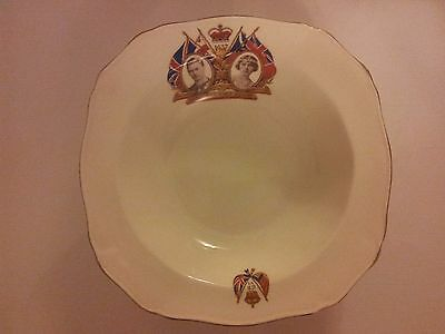 King George VI Coronation 1937 Commemorative Bowl / Dish ~ Alfred Meakin Pottery
