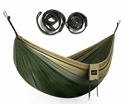 Eno Nylon Camping Hammock Lightweight Hanging Parachute Portable W Tree Straps