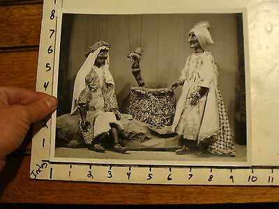 Vintage Puppet Marionette  Photo: TURNABOUT PUPPET THEATRE, snake & men