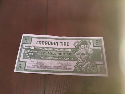 5 Cent Canadian Tire Mismatch Serial Number  Error