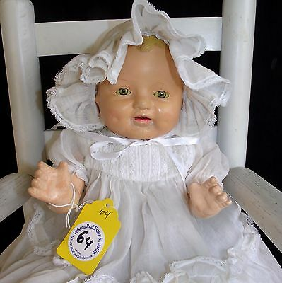 Doll E.I.H. Horsman Antique composition cloth Baby Dimples doll 1920-30's  21""