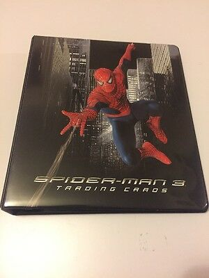 Spider-Man 3 Movie Trading Card Binder c/w Promo Cards P1 & P2