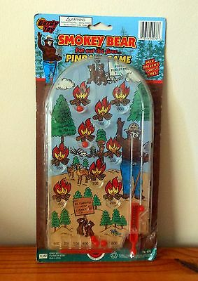 Vintage 9os Smokey Bear Small Handheld Tabletop Pinball Game Park Forest Rangers