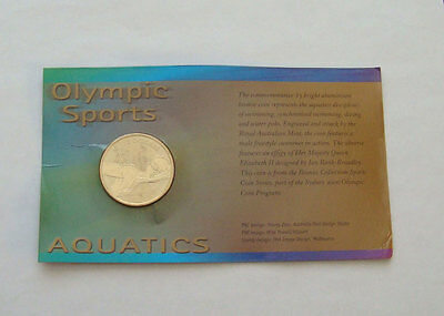 Australia $5 Olympic Games Swimming  2000 NO OUTER COVER Commemorative UNC
