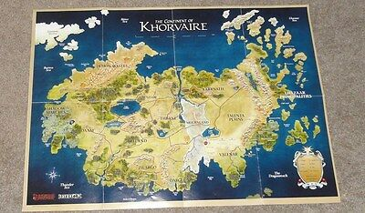Dungeons & Dragons 4th ed 23964 Eberron Campaign Setting Fold-Out Map