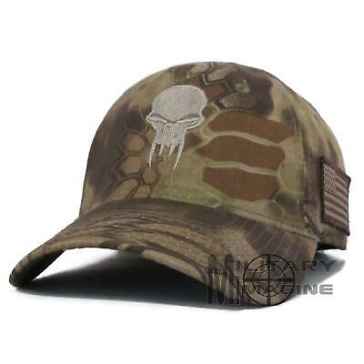 KRYPTEK SKULL BEIGE Hat Cap Military US Flag patch Highlander Camo ... af9cc2fcd6f