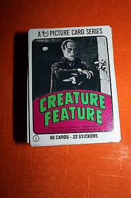 1980 Topps Creature Feature Trading Card Set W/Stickers 88 Cards W/ 22 Stickers