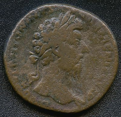 "Ancient Roman Coin "" Marcus Aurelius "" 161 - 180 A.D. REF# S1341 32 mm Diameter"