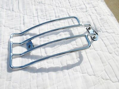 Chrome Luggage Rack off of a solo seat 2013 HARLEY DAVIDSON DYNA-aftermarket