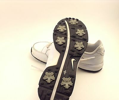 Girls Nike Golf Shoes Sz 2 Youth Very Good Condition White